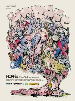 Horfée, Passage, galerie Celal, Street art