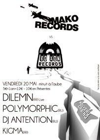 Dilemn Release Party, Boxon, Mako Records, Nouveau Casino