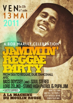 Bob Marley, Machine du Moulin Rouge, Jamming Reggae Party