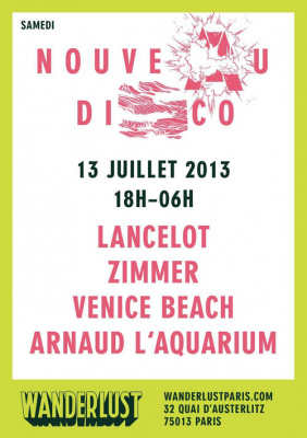 NOUVEAU DISCO avec LANCELOT / ZIMMER / VENICE BEACH / ARNAUD L'AQUARIUM