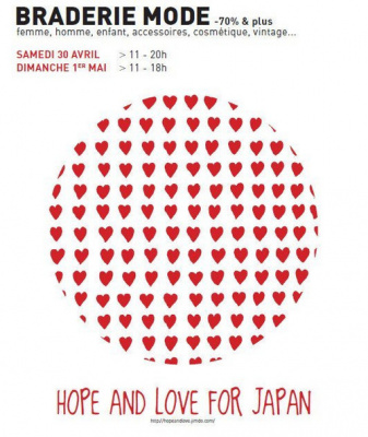 hope and love for japan, braderie mode