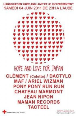 Hope & Love for Japan, 1979, Soirée, Ariel Wizman, Pony Pony Run Run, Chateau Marmont.