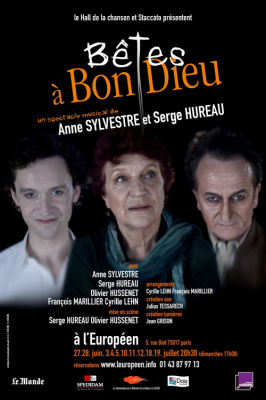 Bêtes à Bon Dieu, Spectacle musical, l'Européen, Anne Sylvestre, Serge Hureau