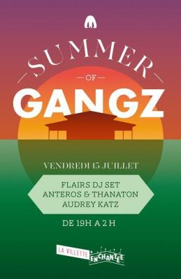 summer of gangz, villette enchantée, soirée, villette