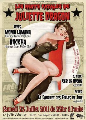 Filles de Joie, Bellevilloise, Soirée, Cabaret, Burlesque