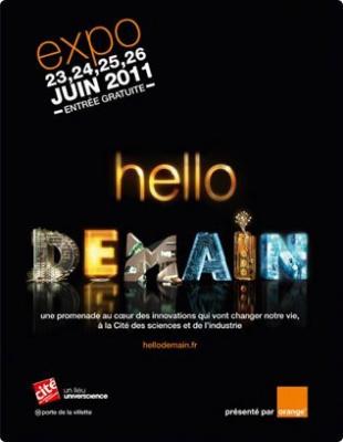 Hellodemain, La Cité des Sciences & de l'Industrie, Parc de la Villette, Orange, exposition