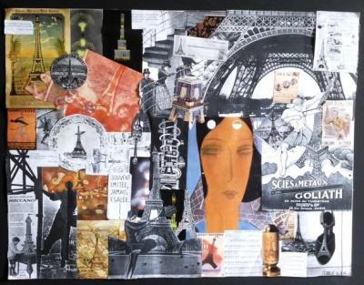 Une Dame de Fer Collage sur toile 1x1m 640x480, Jesse K, Maison de Mai
