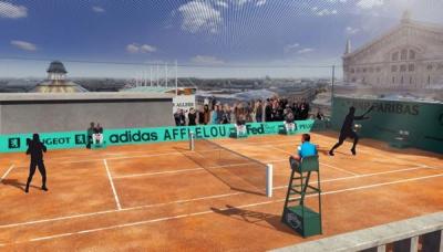 Tennis, Roland-Garros, Galeries Lafayette, toît