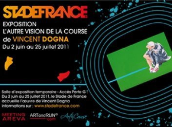 Exposition L'autre vision de la course, Vincent Dogna, Stade de France