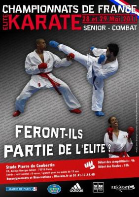 Championnats de France, Karaté combat, Stade Pierre de Coubertin
