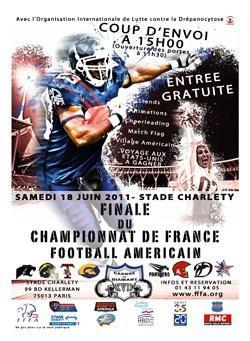Casque de Diamant, Championnat de France Elite de Football Américain, Stade Charléty