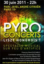 Pyroconcert, Franz Liszt, Parc André Citroën