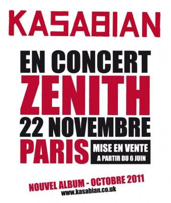 Kasabian Zénith 2011
