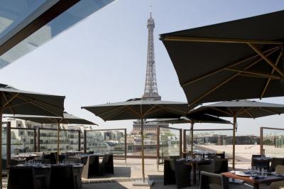 Terrasse, Restaurant, Les Ombres, Musée du Quai Branly, Tour Eiffel, Paris