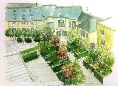 h tel renaissance paris le parc trocad ro crin de verdure. Black Bedroom Furniture Sets. Home Design Ideas