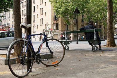 Vélo, Arbre, Paris