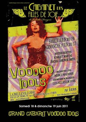 Grand Cabaret Voodoo Idols, bellevilloise, show burlesque