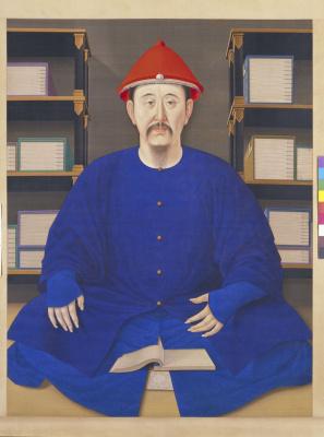 Portrait de Kangxi en tenue ordinaire, 康熙帝便服 像轴 ,Dynastie Qing, période Kangxi (1662-1722)