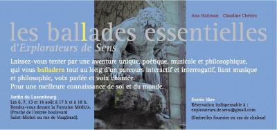 Les Ballades Essentielles, Jardin du Luxembourg, Concerts