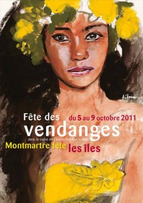 Affiche, Fête des vendanges de Montmartre, 2011