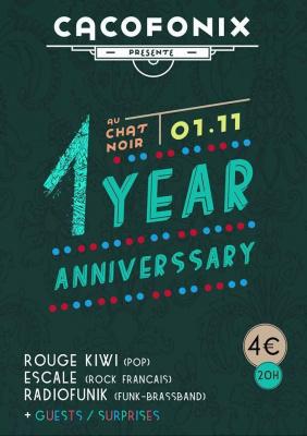 CACOFONIX ANNIVERSARY 1 YEAR - ROUGE KIWI - ESCALE - RADIOFUNIK - CHRIS DOGZOUT & STUPID DJ SET