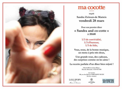 Ma Cocotte reçoit Sandra Zeitoun-de Matteis