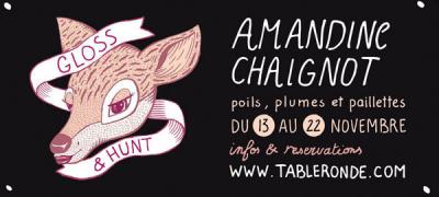 Amandine Chaignot et Table ronde lancent les dîners de chasse