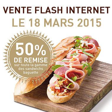 Vente flash Class'croute : -50% sur les sandwichs baguette