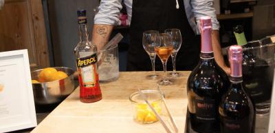 Bar à Spritz à l'Hôtel Crayon Rouge avec Great Wine Italy
