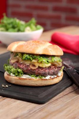 Un burger à l'agneau gallois chez Red d'Hippo