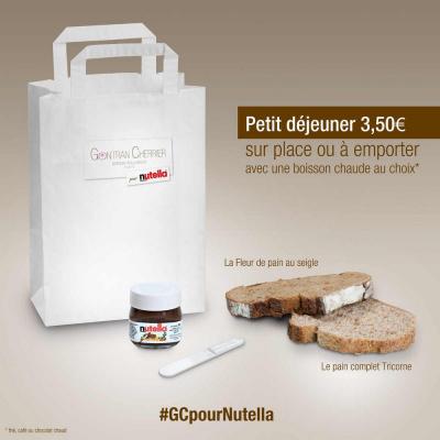 Le boulanger Gontran Cherrier accueille Nutella pour le petit-déjeuner