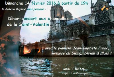 Saint Valentin 2016 sur le bateau Daphné