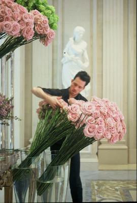 L'atelier floral de Jeff Leatham au Four Season Hotel GeorgesV