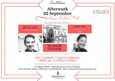 Be chic, be exclusive : l'afterwork girly de l'hôtel Renaissance Vendôme