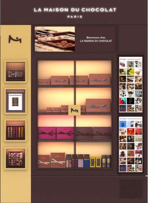Le 1er corner digital de La Maison du Chocolat au Drugstore Publicis