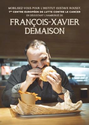 Un Hamburgé François-Xavier Demaison en soutien pour Gustave Roussy