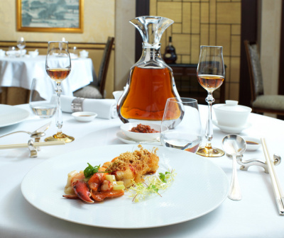 Menu Hennessy au Shang Palace du Shangri la Hotel