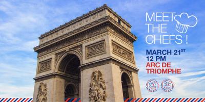 Dégustation de bouchées française sur le toit de l'Arc de Triomphe avec Goût de France