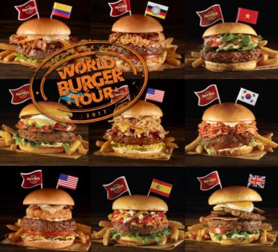 Le tour du monde des burgers du Hard Rock Café
