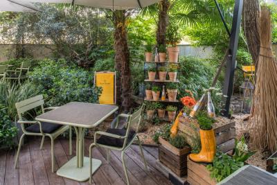 La Table du Huit ouvre son potager Veuve Clicquot en terrasse