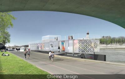 Fluctuart : centre d'art urbain flottant