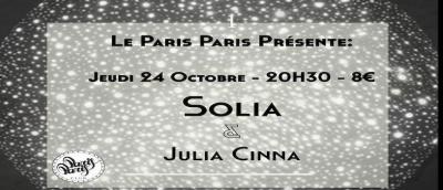 Solia x Julia Cinna en Concert Au Paris Paris Club