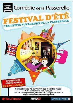 festival d'été, les petits voyageurs de la passerelle, comédie de la passerelle