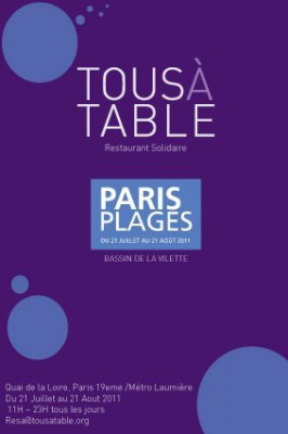 Tous à table, paris plages