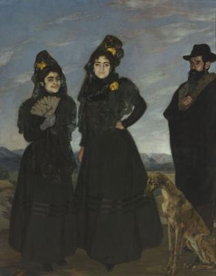04. Ignacio Zuloaga y Zabaleta (1870-1945) Mon oncle et mes deux cousines, 1899 Huile sur toile, 209,5 x 167,5 cm Paris, Musée d'Orsay