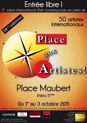 Place aux Artistes, Salon International d'Art Contemporain, Place Maubert, Création