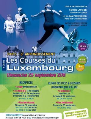 Courses du Luxembourg, Athlétisme, Compétition
