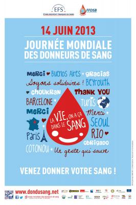 Journée mondiale des donneurs du sang