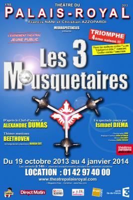 Les 3 Mousquetaires au Théâtre du Palais Royal