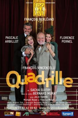 Quadrille, reprise au Théâtre Edouard VII